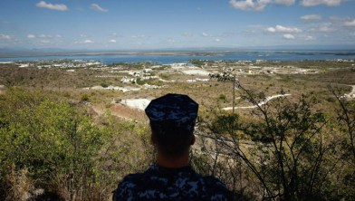 U.S. Navy sailor surveys Guantanamo Bay Naval Base by CNN