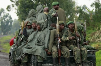 Congolese soldiers in truck to fight M23 in Kibati near Goma, eastern Congo 090213 by Reuters