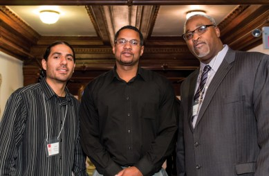 LSPC 35th Anniversary Manuel LaFontaine, Jason Bell of SFSU Project Rebound, Jerry Elster 101913 by Aubrie Johnson, web