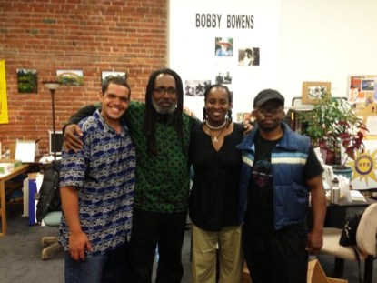 Melvin Willis, Malik Yakini of Detroit Food Policy Council, Jovanka Beckles & Najari Smith of BMOER at Bobby Bowens Progressive Center, Richmond