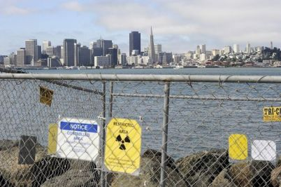SF skyline from Treasure Island radioactive cleanup site 1113 by Michael Short, Bay Citizen