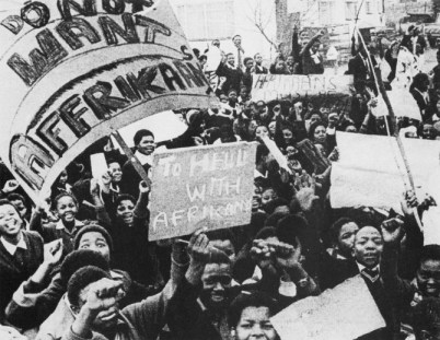Soweto Uprising 20,000 high school students protest learning Afrikaans, police kill 360 061676