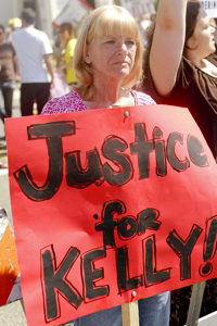 Kelly Thomas' mother Cathy Thomas 'Justice for Kelly' by Chris Victorio