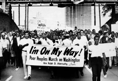 Poor People's March on Washington 'I'm on my way' 'End war and help the poor' by AP