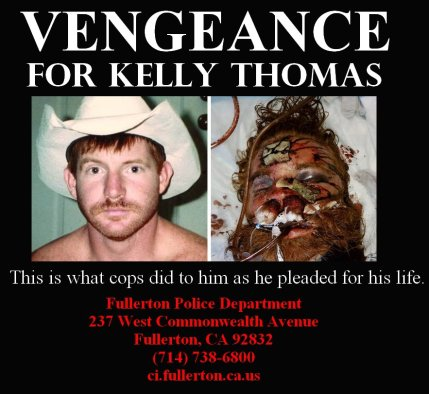 'Vengeance for Kelly Thomas' poster