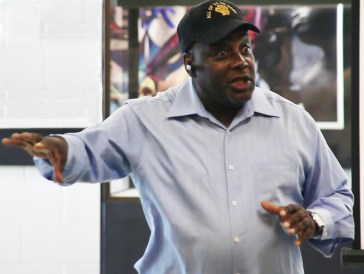 Dorsey Nunn speaks at Formerly Incarcerated People's Policy Academy launch LA 1213 by Charles Dodds, Urban Guerilla Media
