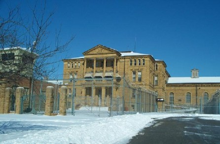 Menard Correctional Center in winter by David Ramsey