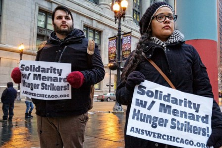 Menard hunger striker support rally Chicago 021314-1