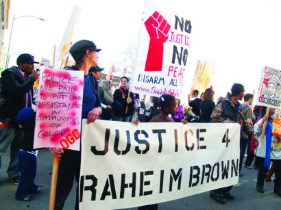 Oscar Grant Memorial March & Rally 'Justice 4 Raheim Brown' 010112 by Bradley Stuart, Indybay