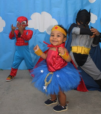 Superhero b'day party for Morris Turner's grandchildren Marcelo, Amay, Isaiah