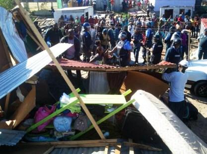 Cape Town's Anti-Land Invasion Unit demolishes Marikana 050113 by Jared Sacks, Abahlali