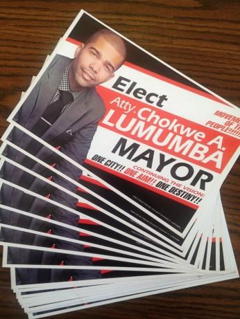 Chokwe Antar Lumumba mayoral campaign posters