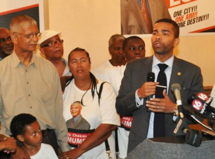 Chokwe Lumumba, Chokwe Antar Lumumba speaks election night 060413 by Trip Burns