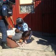 Marikana mother, baby violently evicted 050113 by Jared Sacks, Abahlali