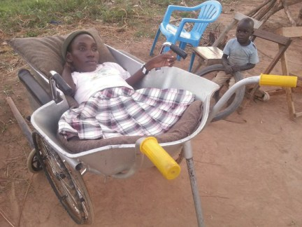 Eunice Atim in her new wheelchair