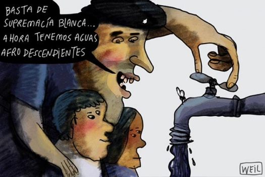 Venezuela cartoon GÇÿEnough of white supremacy, now we have Afrodescendant waterGÇÖ