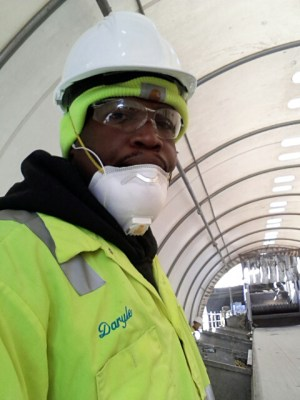 Daryle Washington on the job at Recology