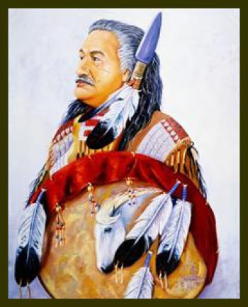 Self-portrait of a warrior – Art: Leonard Peltier
