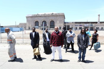 """A scene from Lower Bottom Playaz' production of August Wilson's """"Two Trains Running"""""""