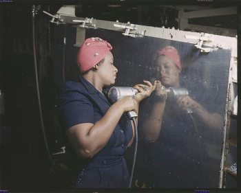 Women shipyard workers during World War II were often referred to as Rosie the Riveter – and most of them were Black.