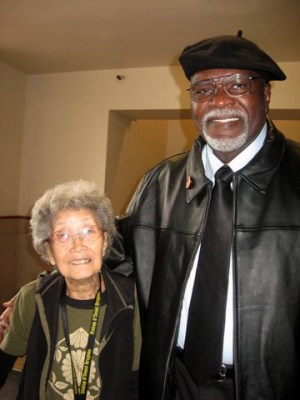 "Yuri and Elbert ""Big Man"" Howard at Richard Aoki's Memorial Service at UC Berkeley in May 2009 – Photo: Carole Hyams"