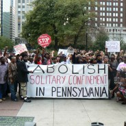 Opposition to the torture of solitary confinement is strong in Pennsylvania, where this rally was held prior to a state legislative hearing on Sept. 18, 2012.