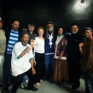 When Cynthia McKinney spoke at the Kaos Network in Los Angeles on April 23, 2013, Kathleen Cleaver came with the Freeman brothers, Roland and Elder. They are standing on either side of Kathleen, Elder Freeman between Kathleen and Cynthia. Kathleen had come to California to raise money for Elder Freeman to travel to Cuba for cancer treatment, and her mission was accomplished though he was never strong enough to travel there. With the Panthers and KPFK broadcaster Dedan Kimathi, along with Minister of Information JR, host and organizer of Cynthia's speaking tour, it was a gathering of veterans of the struggle. – Photo: JR Valrey, Block Report