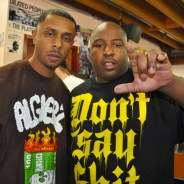 """PK and the Jacka at the release of """"Tear Gas"""" on June 16, 2009. – Photo: D-Ray, Ozone Magazine"""