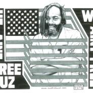 """Mumia: He Ain't Free Cuz We Ain't Free"" – Art: Kevin ""Rashid"" Johnson, 1859887, Clements Unit, 9601 Spur 591, Amarillo TX 79107"