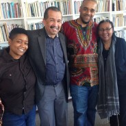 """San Francisco State University Ethnic Studies Dean Kenneth Monteiro posted this photo on Facebook showing himself """"with Professor bell hooks and two of our brilliant graduate students, Arnetta Smith and Jonathan Brumfield."""""""