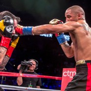 Several hard left jabs thrown by Andre Ward connected with a hapless Paul Smith's face as Andre Ward demolished Mr. Smith's defenses. – Photo: Malaika Kambon