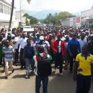 Burundians demonstrate in support of their defense and security forces after their defeat of an early morning Dec. 11 attack on three of the country's army bases. – Photo: Burundi 24