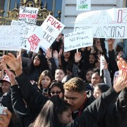 Hundreds of students walked out of class Dec. 11 to protest the SFPD murder of Mario Woods, Alex Nieto and other young people. The Dec. 2 firing squad-style execution of Mario has united Black and Brown youth.
