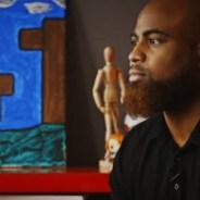 'No Gays' contemplative Black man