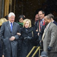 Bill and Hillary Clinton leave a Wall Street event. – Photo: A. Katz, Shutterstock