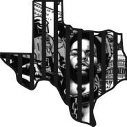 """Texas"" – Art: Kevin ""Rashid"" Johnson, 1859887, Clements Unit, 9601 Spur 591, Amarillo TX 79107"