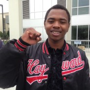 """Hassani Bell, 18, the youngest of the four SF State students on hunger strike, grew up in East Oakland and went to San Leandro High School, where he took ethnic studies courses, KQED reports. """"I hope I can do the same thing my teachers did for me – convince youth that their lives matter. It's hard to believe you really mean something."""" – Photo: Natalie Yemenidjian, KQED"""