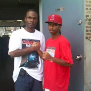 Malcolm Shabazz and Prince Amir met at the Chairman Fred Hampton Street Party on the West Side of Chicago in August 2010. – Photo: JR Valrey, Block Report