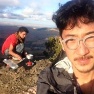 Patrick Xu and friend, camping in Death Valley, use the survival skills they've learned by squatting – often without electricity and running water.