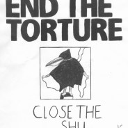"""Close the SHU"" – Art: Jose Villarreal. Jose's art was a significant contribution to the victory of the hunger strikes."