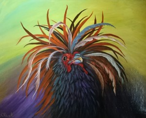 """Rooster Pride"" – Art: Royal Clark, J-51100, 3-EB-87L, San Quentin State Prison, San Quentin, CA 94974"