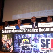 At a forum Sept. 24 in San Francisco's Main Library, the scathing report on the SFPD by District Attorney George Gascón's Blue Ribbon Panel was discussed by panel members, SFPD and other City officials, family members of police victims and activists who have fought all year for police accountability so fervently that they pushed the highest paid police chief in the nation out of office. – Photo: Adilifu Fundi