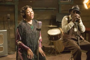 Mabel John plays blues singer Bertha Mae Spivey in the 2007 film Honeydripper. She stepped into the role at the last minute when Ruth Brown fell ill.