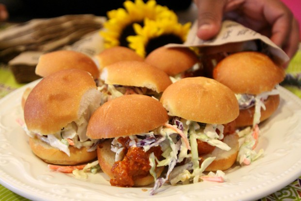 Zella's Soulful Kitchen: Buffalo Chicken Burgers