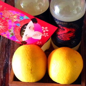 Organic oranges and ginger beer - Chinese New Year Prosperity gift