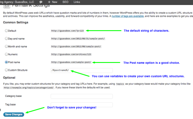 Create Pretty Permalinks in WordPress
