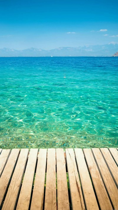 Water Wallpaper Wooden Dock Transparent Sea Water Android Wallpaper - Supportive Guru