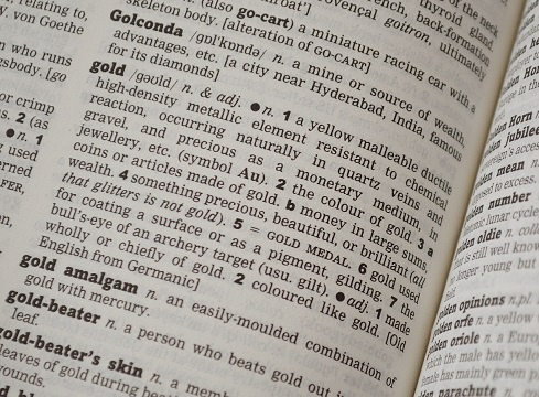 Gold dictionary pic