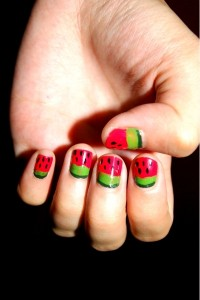 watermelon-nail-art