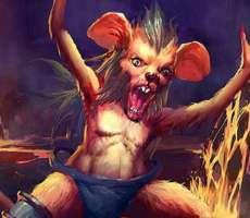 新カード 変異の雷撃 燃えネズミ